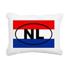Netherlands NL European Rectangular Canvas Pillow