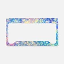 Watercolor Paisley License Plate Holder