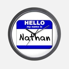 hello my name is nathan  Wall Clock