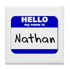 hello my name is nathan  Tile Coaster
