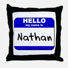 hello my name is nathan  Throw Pillow