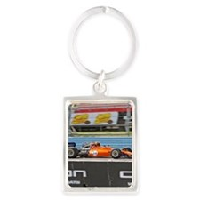 Race Car Portrait Keychain