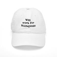 Will work for Kumquats Baseball Cap
