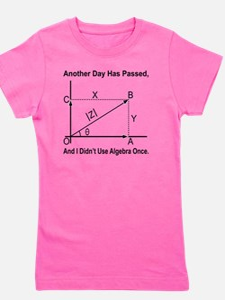 funny algebra Girl's Tee