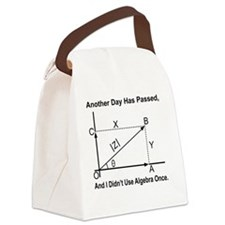 funny algebra Canvas Lunch Bag