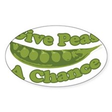 Give Peas a Chance Decal