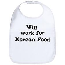 Will work for Korean Food Bib