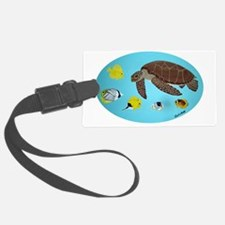 Turtle and Fish Luggage Tag
