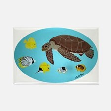 Turtle and Fish Rectangle Magnet