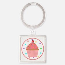 Sweet As A Cupcake Square Keychain