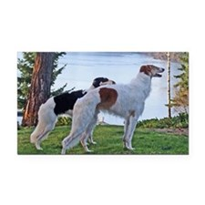 Borzoi Lake Rectangle Car Magnet