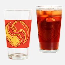 yin-bang-2red-BUT Drinking Glass