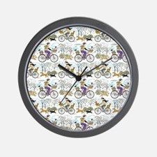 bike_riders_shower_curtain Wall Clock