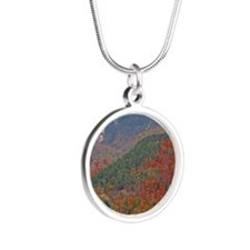 Whiteface Mountain Silver Round Necklace