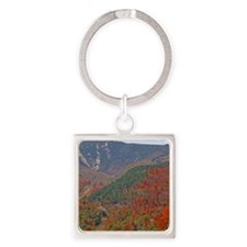 Whiteface Mountain Square Keychain
