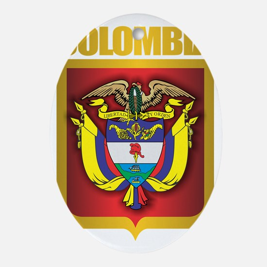 Colombia Gold Oval Ornament