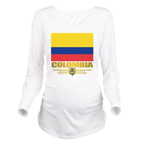 Flag of Colombia Long Sleeve Maternity T-Shirt