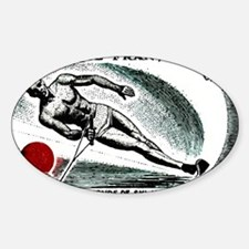 Vintage 1963 France Water Skiing Po Decal