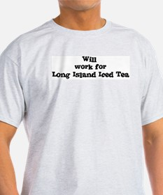 Will work for Long Island Ice T-Shirt