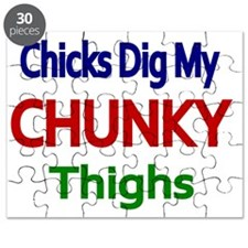 CHICKS DIG MY CHUNKY THIGHS 2 Puzzle