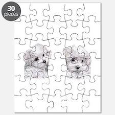 Bichon Frise flip flops Puzzle