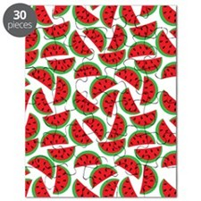 Cute Watermelon On Summer Colors (8) Puzzle