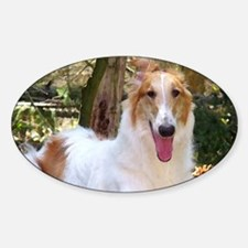 Borzoi Redboy Sticker (Oval)