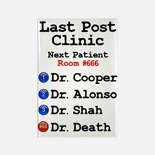LAST POST CLINIC - DOCTOR DEATH! Rectangle Magnet