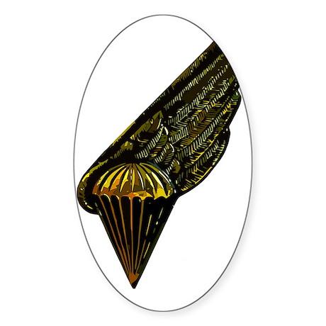 Latvian Paratrooper Badge Sticker (Oval)