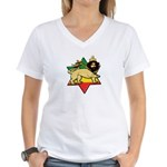 Zion Lion Women's V-Neck T-Shirt