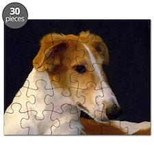 Red Borzoi Boy Puzzle