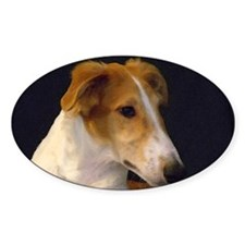 Red Borzoi Boy Decal