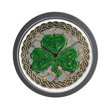 Shamrock And Celtic Knots Wall Clock