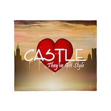 castle2sq Throw Blanket