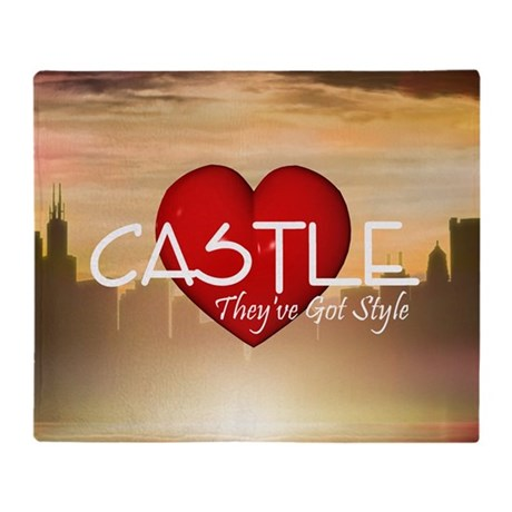 castle2sq Throw Blanket