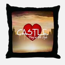 castle2sq Throw Pillow