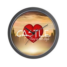 castle2sq Wall Clock