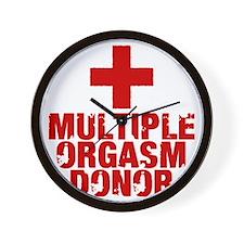 Multiple Orgasm Donor Wall Clock