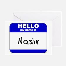 hello my name is nasir  Greeting Cards (Package of