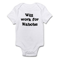 Will work for Kabobs Infant Bodysuit
