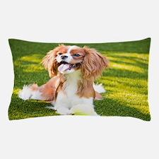 Happy Cavalier King Charles Spaniel Pu Pillow Case