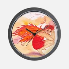 Wall Clock Fire Faerie