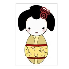 Yellow Geisha Postcards (Package of 8)