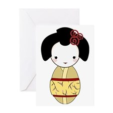Yellow Geisha Greeting Card