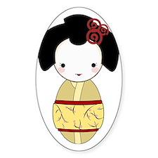 Yellow Geisha Decal