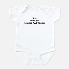 Will work for Lettuce And Tom Infant Bodysuit