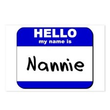 hello my name is nannie  Postcards (Package of 8)