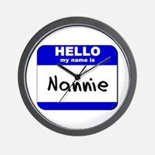 hello my name is nannie  Wall Clock