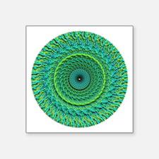 "green energy mandala Square Sticker 3"" x 3"""