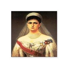 "Alexandra Feodorovna Square Sticker 3"" x 3"""